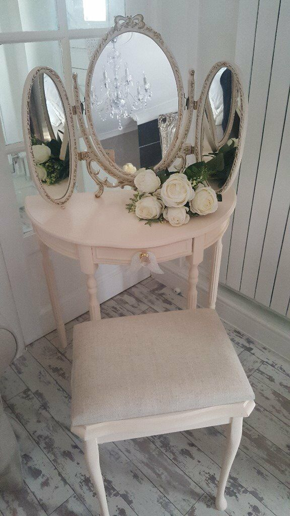 DRESSING TABLE... 3 WAY MIRROR... STOOL....