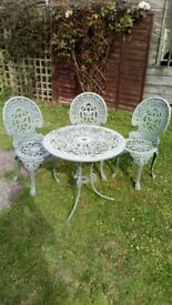Lovely metal garden table and chairs