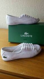 Lacoste trainers size 4 worn once