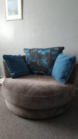 Swivel lounge chairs - Furniture Village Boardwalk waffle steel and teal