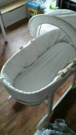Moses basket with stand and baby rocker