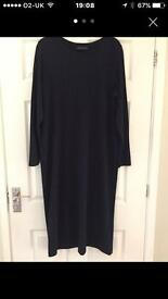 Navy Ribbed Dress Size 22 From M&S