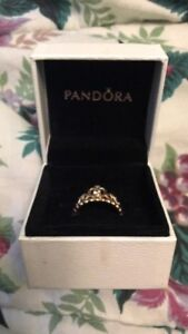 Rose gold Size 4 Pandora Ring