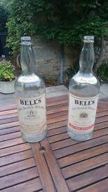 Empty Bell's 4.5l Huge Whisky Bottle - moneybox etc.