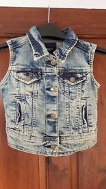Girls Denim Jacket / Vest age 4-5 years (Gap Kids)