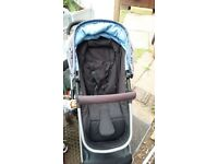 Mothercare Roam travel system ( pram, pushchair and isofix carseat)