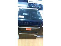 HOTPOINT black 60Cm Gas Cooker in new Ex Display