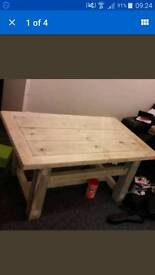 Solid hand made table