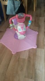 Fisher price pink zebra bouncer