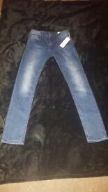 Boys 'Sleenker-J' Jeans - Light Wash size 10 kids