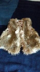 Girls H & M Fluffy Waistcoat Age 3