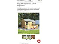 Brand New Billy Oh gingerbread wooden playhouse