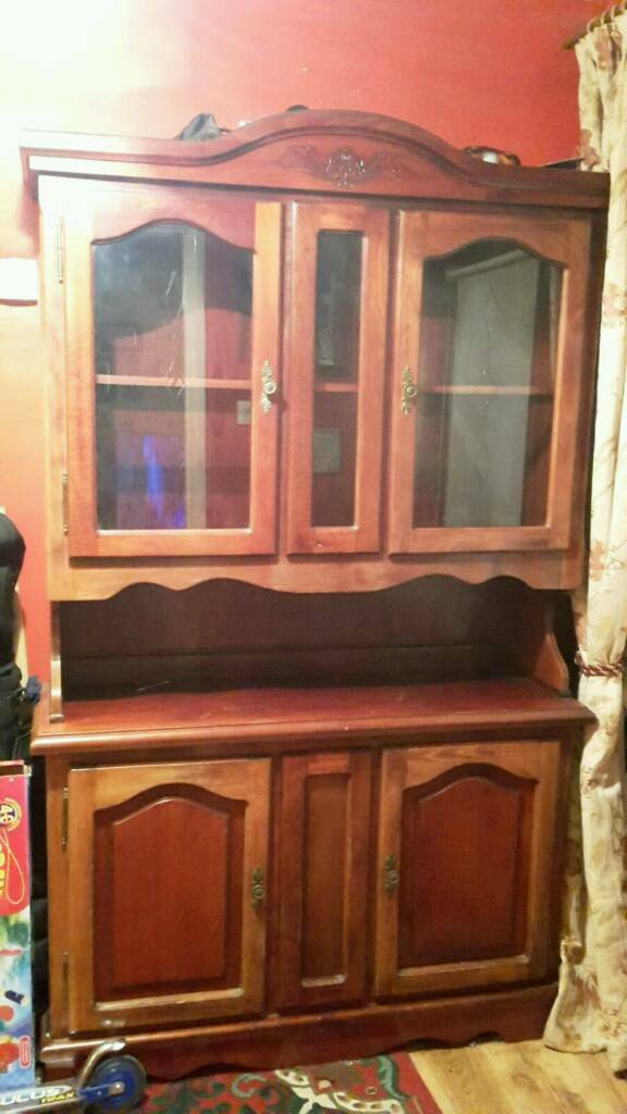 Mahogany display unit £90 o.n.o
