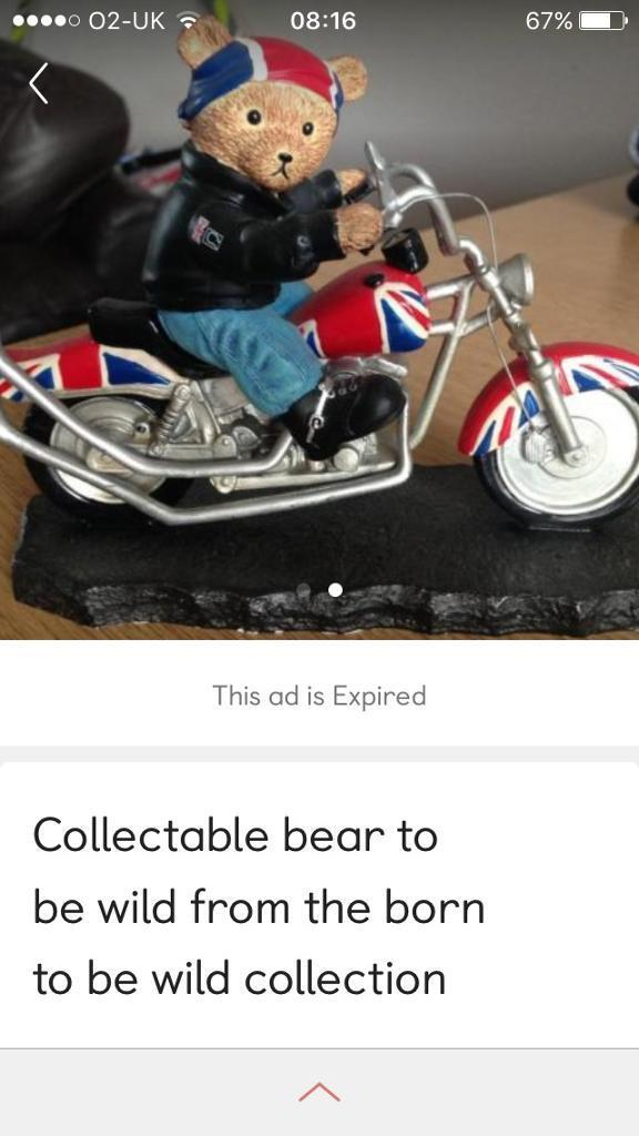 Collectable Born to ride ornament