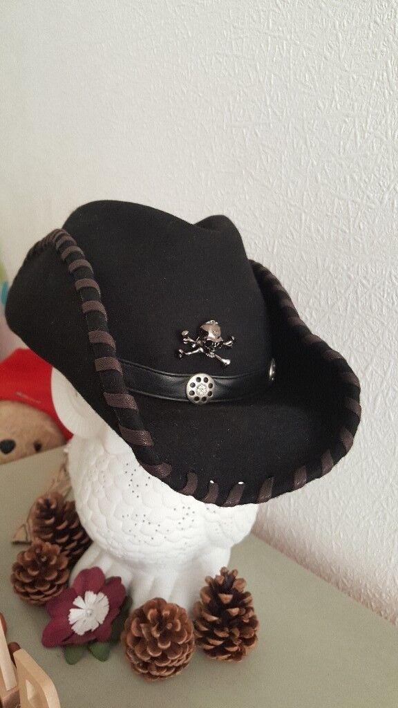 Rock N Roll Stetson Cowboy Hat Lemmy Motorhead