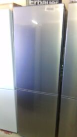 KENWOOD 60cm silver fridge freezer, new Ex display
