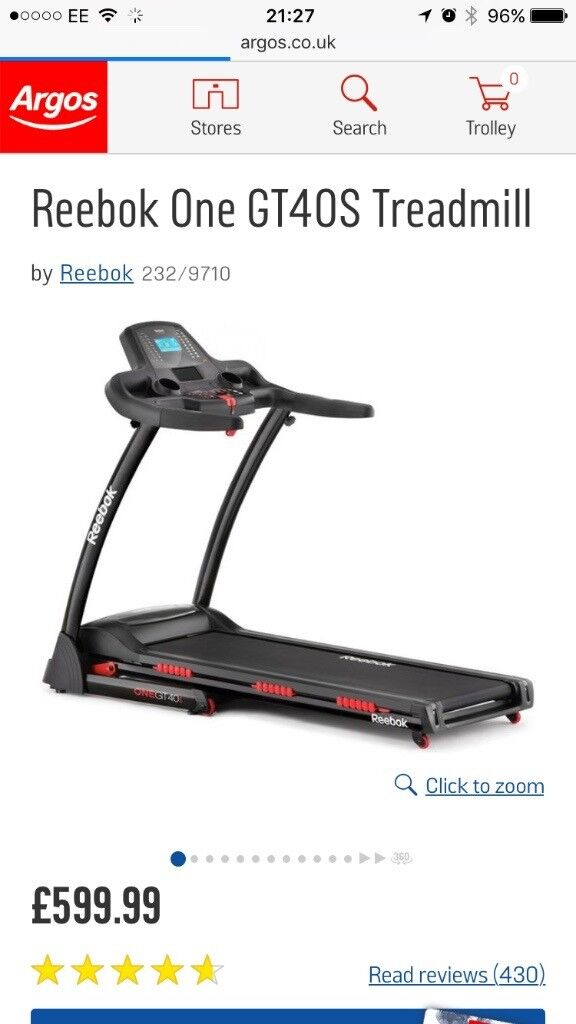 On offer treadmill cheap only used a couple of times