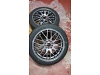 BRAND NEW Wolfrace Bayern Alloy Wheels with Tyres