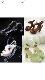 44 Items of Acrylic Sandal Strap Support Shoe Display