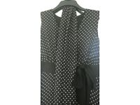 ladies polkadot dress size 14