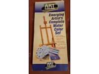Easel (table top) and water color set