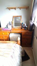Pine dresser & mirror