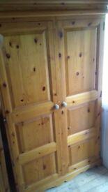 2x oak \pine wardrobes