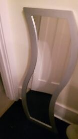 Designer Silver Wave Mirror (Morris Mirrors) Excellent condition