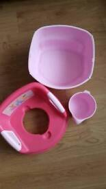 Prink princess potty training set includes potty toilet ring and a book Princess polly's potty