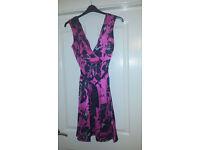 Size 14 Next Pink and Black dress