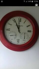 LARGE red clock.
