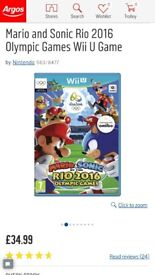 Wii u Mario Sonic Olympic game