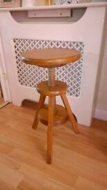 Adjustable wooden stool