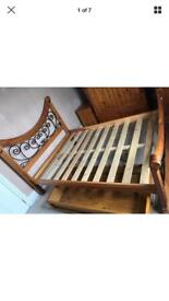 Solid Wooden Bed with big draw