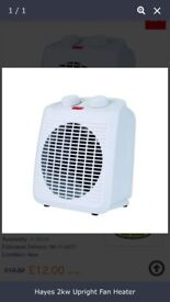 2KW upright fan heater HOT/COLD ,, V-CHEAP!