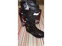 wulfsport motocross motox quad boots size 6 euro 40 in black