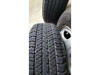 205 70 15 Bridgestone Dueler tyres x4 with Honda crv wheels