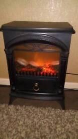 Log effect heater