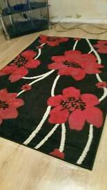 Rug curtains 66x90 n 4 matching cushion covers