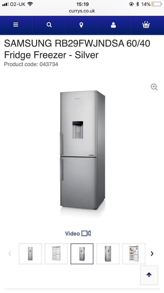 Samsung 60cm wide fridge freezer