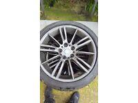 "Bmw MV3 M Sport 18"" E90-E91 Alloy Wheels N RFT Tyres Genuine M 193 FERRIC OEM"