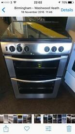 Stainless steel belling 60cm gas cooker grill & double oven good condition with guarantee