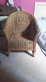 Children wicker chair