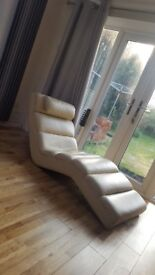 GENUINE LEATHER CHAISE