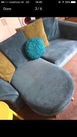 Blue Sofa (Gloss DFS)
