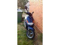 Blue Peugeot viva city 50cc