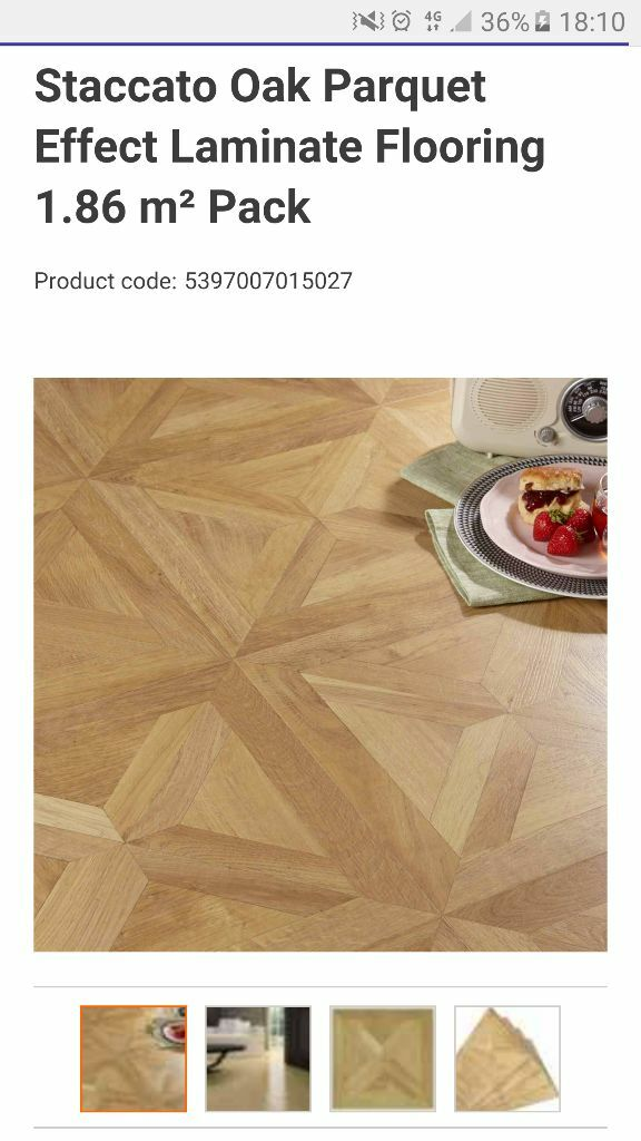 Staccato Oak Parquet Effect Laminate Flooring 1 86 M² Pack 7 Packs In Total 13 Sq