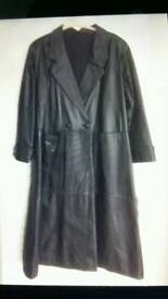 Female Leather Long Coat
