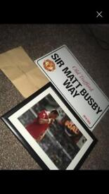 Manchester United signed picture and more stuff