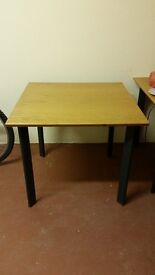 6 square wooden tables